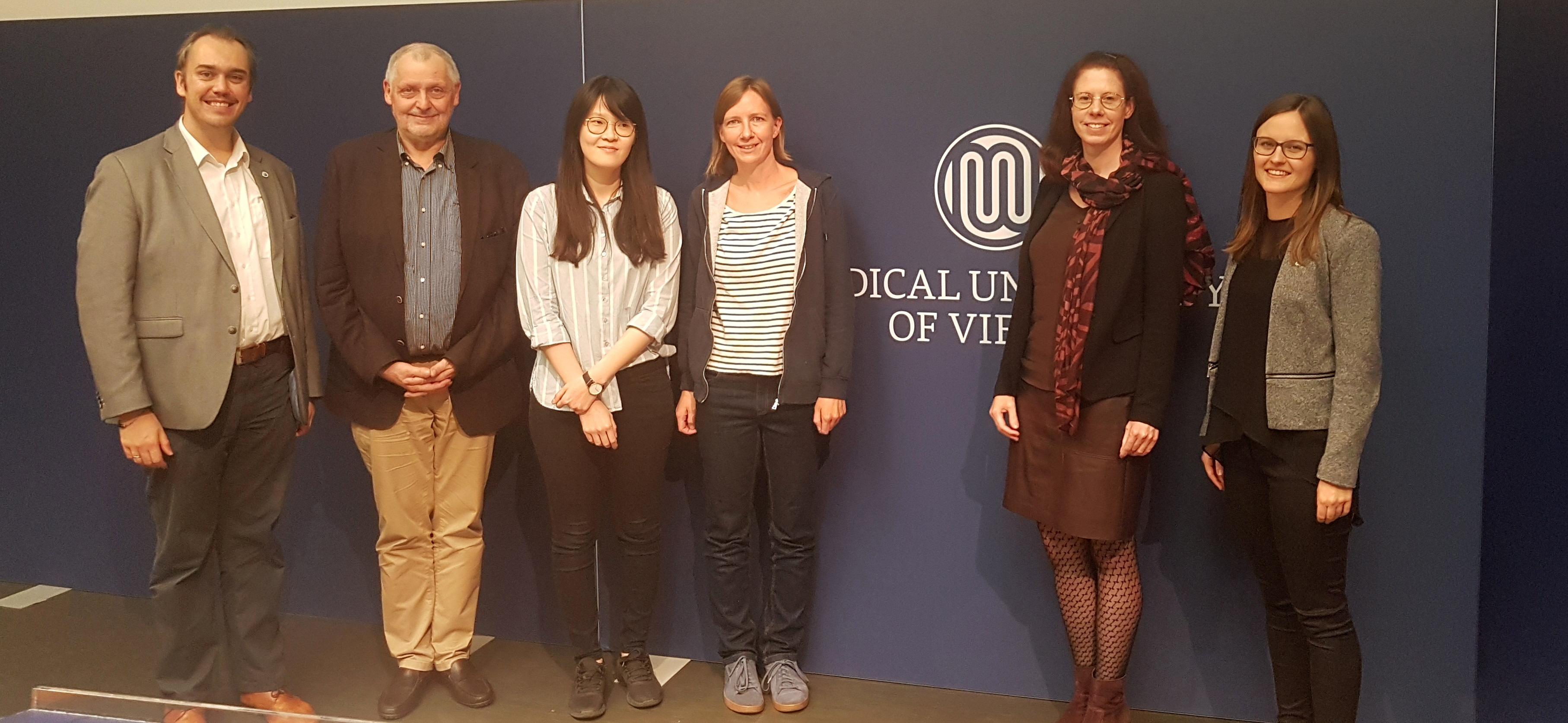 Hermann Agis, Gerhard Polak, Anna Cho, Katharina Seitz, Irene Maier, Carina Schöfl